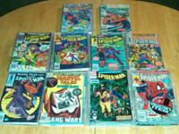 95 different Spider Man comic books. Mostly 1990-1992,