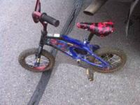 Way cute spider man kids bike!! Great condition, a