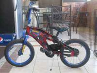 "spiderman 16"" boy's bike in excellent condition call"