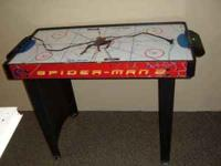 spiderman-2 air hockey table for sale.in good working