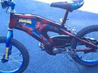 SPIDERMAN BIKE IN GREAT CONDITION, ONLY 1 YEAR OLD, MY