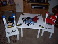 Let's get the bad guys with spiderman fun chair. I make