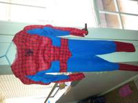 halloween spiderman costume w muscles & 2 masks  //