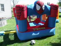 Spider-Man Inflatable Bouncer -- this is a great toy
