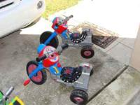 I have 2 Spiderman Pedal Tricycle $18 each Call