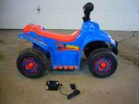 Spiderman Power Four Wheeler with charger. Barely used.