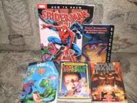 I have a Spiderman reading and drawing book $1 StarWars
