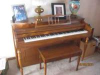 Spinett Piano purchased at Hospe's Music in Omaha in
