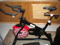 Selling a new e-z fitness spinner bike. Less than a