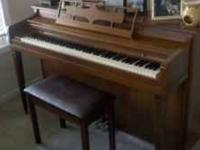 Spinnet Piano for sale. Outside conditions is good,
