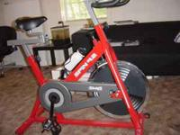 I am selling my spinning bike. I just used around