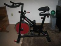 Spinning Bike: Barely used Pro-Form bike with padded