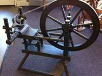 This a Jim Wilson Spinning wheel made in 1978.