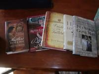 I have about 32 books, mostly hard cover ready for
