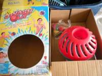 splash out toy comes with plastic ball and a small bag