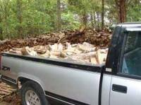 FIREWOOD Split seasoned Hardwood.By pick up truck