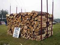 SEASONED FIREWOOD, SPLIT & SLAB WITH APPROX 1/3 ROUNDS