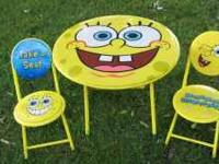 Sponge Bob Square Pants table and chairs. Very cute and