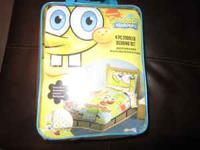 Brand new twin bed set sponge bob. Bought it for 40