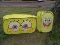 Sponge Bob Toy Box and Laundry Hamper Set Nylon set