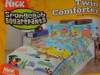 Nickelodeon Sponge Bob Twin Reversible Comforter, Twin