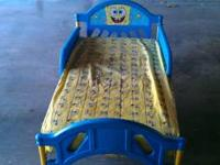 Gently used Spongebob bed. Frame comes with sheet,