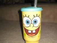 Tupperware Spongebob cup with straw, asking $13 cash