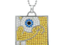 RUSSEL SIMMONS JEWELRY SPONGEBOB MEDALLION WITH