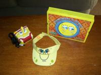 SPONGEBOB SQUAREPANTS LOT DOMINOES GAME, CAP, PLUG IN