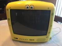 "SpongeBob TV! 13"" CRT (not LCD) Works great! REMOTE"