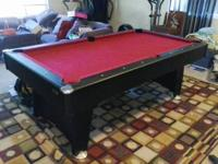 This billiards table was bought 4 years ago brand new