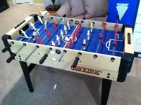 Sports Table includes Foosball, slide hockey, table