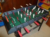 This table includes foosball, hockey, bowling,