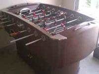 Nice foosball table, just taking up space in garage.