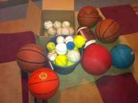 Mixed lot of sporting goods. We cleaned out the garage