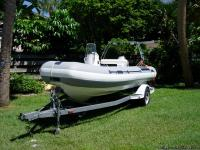 For Sale a 16', 2000 Sportis Rib Inflatable. Powered by