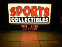 I have a very nice working sports collectables sign
