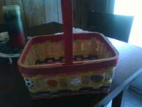 Wicker easter basket w/ sport balls on it. CAll or text
