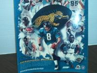 Included is a Jacksonville Jaguar poster and