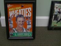 Larry Bird Wheaties Box in Protective Display Case -
