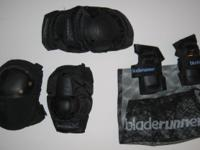 Sports Pads 4 Pairs Knee Elbow Wrist Pads Velcro &