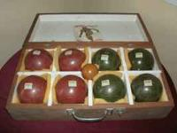 SPORTSCRAFT BOCCE BALL SET ,MADE IN ITALY !! WITH CASE