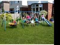 for sale our sportswear super8 metal swingset, almost