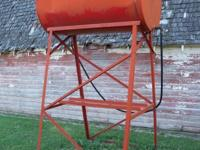 I have a 200 gallon gravity feed gas barrel with stand