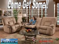 WHOLE SET INCLUDING RECLINING CHAIR AND DOUBLE MOTION