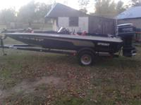 "1989 17' 7"" 275 pro sprint bass boat two live wells"