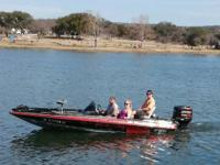 1995 Sprint Bass Boat has a Johnson 150 Fast Strike