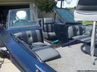 Metalflake Blue & White with Gray/Blue seats walk thru
