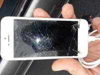 I have a Sprint IPhone 5 with a cracked glass for sale.