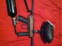 Spyder MR1 gun, two hoppers - one of them spyder and